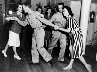 Square dancing at the Riverview Leave Area, Brisbane, November 1943