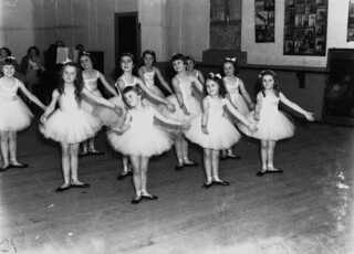 Young girls competing at the Royal Academy of Dancing (London) exams held in Brisbane and Toowoomba, 1938