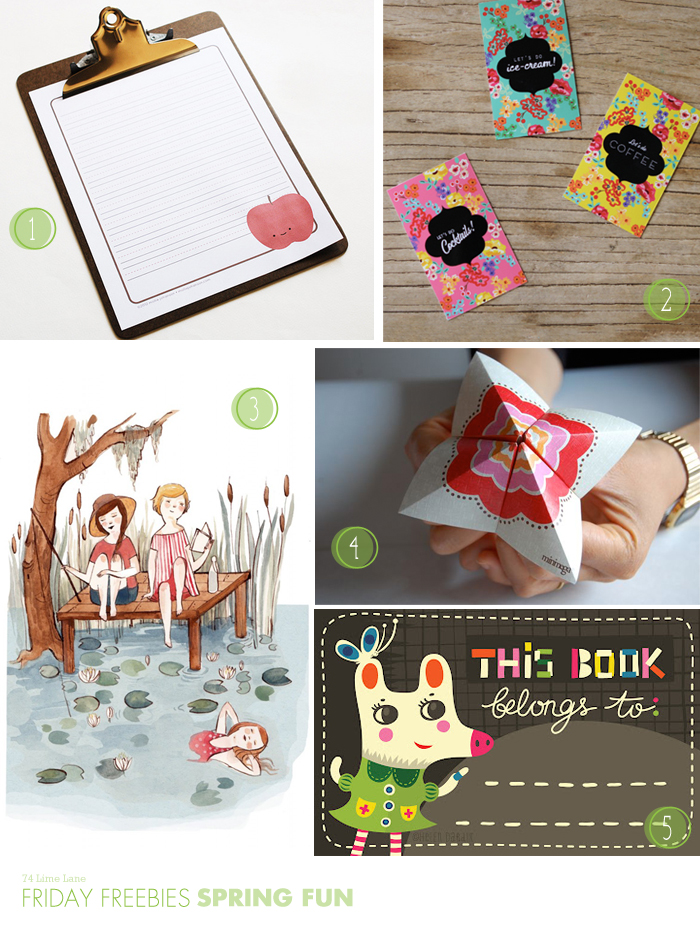 {friday freebies} spring fun