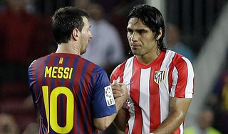 Radamel Falcao+Messi