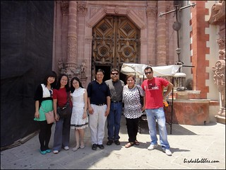 At the back of Sta. Prisca Church in Taxco
