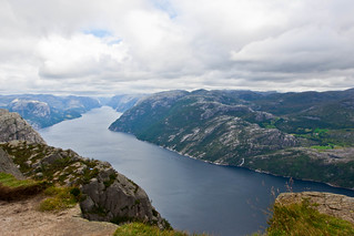View of Lysefjorden from Preikestolen