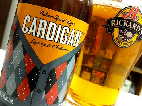 Review: Rickard's Cardigan Autumn Spiced Lager by Cody La Bière