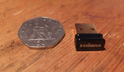 Tiny USB wifi adaptor for Raspberry Pi
