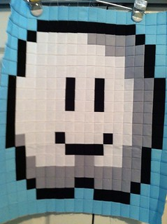 Mario Quilt Cloud Block