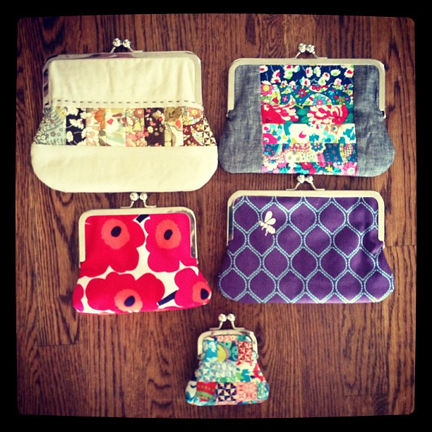 Pouch samples for @sewingsummit so far! I have a few more to make!