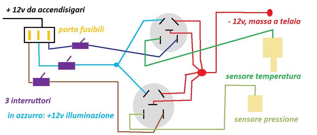 Schema Elettrico Voltmetro Per Auto : Schema elettrico bulbo pressione olio fare di una mosca