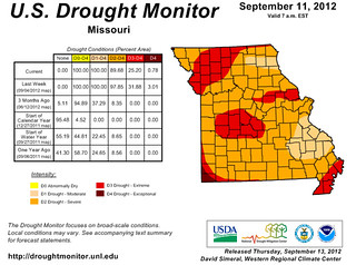 Missouri Drought Monitor (September 11)