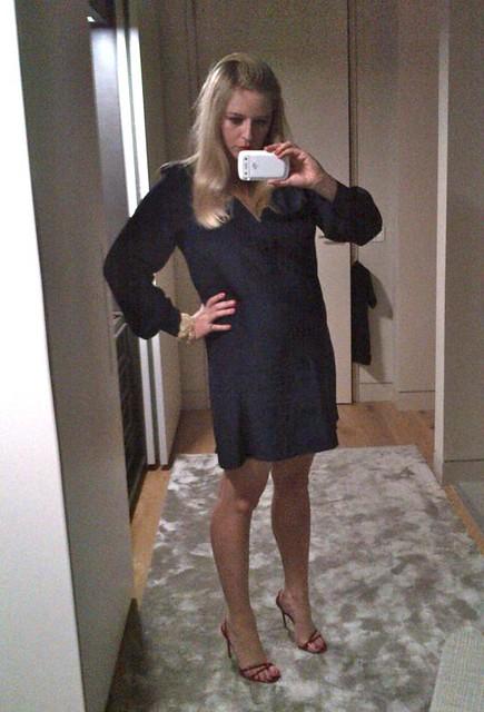 rory beca navy silk dress