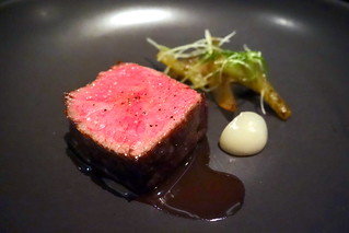 Beef Rib, Pear, Celery, Burdock, Charred Scallion, Fermented Pepper