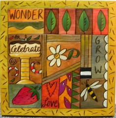 """Sticks Plaque - """"Wonder"""" - at Smith Galleries"""