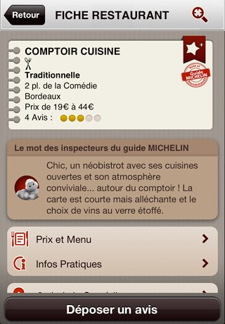 Nouveau site Michelin Restaurants
