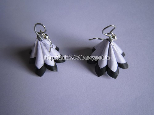 Handmade Jewelry - Paper Cone Earrings (1) by fah2305
