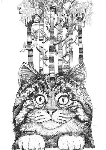 FelineForest // Graphite by www.sandradieckmann.com