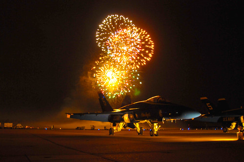 Fireworks above the NAS Oceana Air Show.