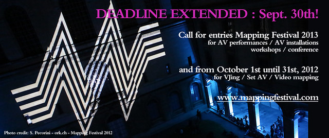 Mapping Festival 2013 open call extended