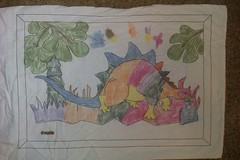 Zachary's fabric crayon colouring by m0nk3yphd