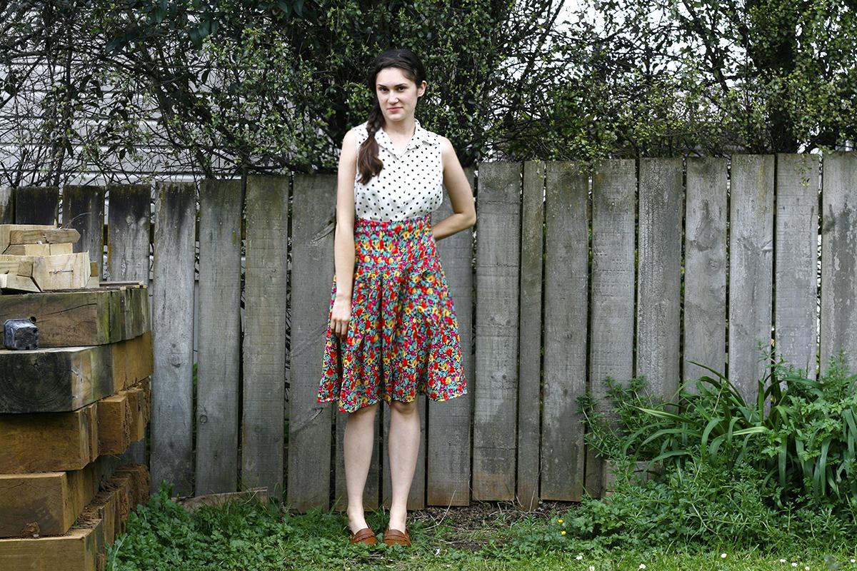 Floral Skirt: After