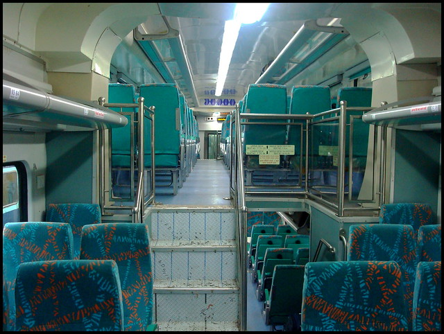 interior of a double decker ac chair car flickr photo sharing. Black Bedroom Furniture Sets. Home Design Ideas