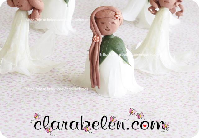 Tutorial de muñecas para souvenirs de arcilla y flores de plástico