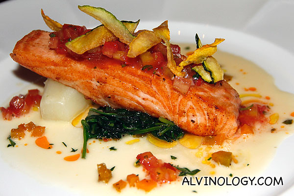 Rachel's salmon main course