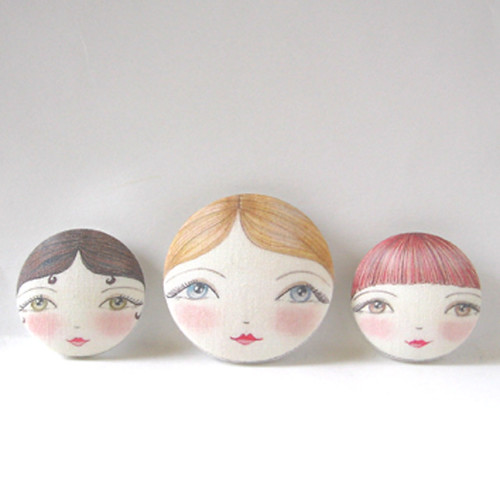Original design doll face buttons