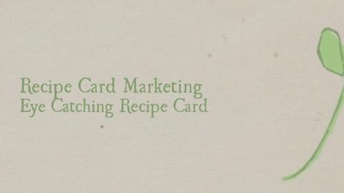 Recipe Card Marketing