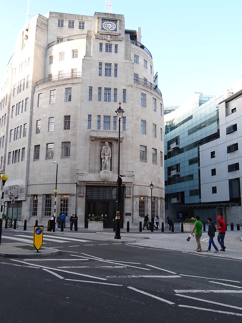 BBC Broadcasting House Art Deco Front