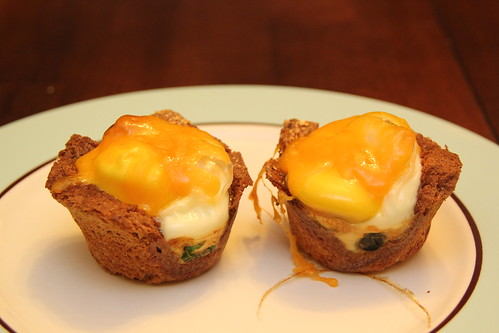 Egg, bacon toast muffins