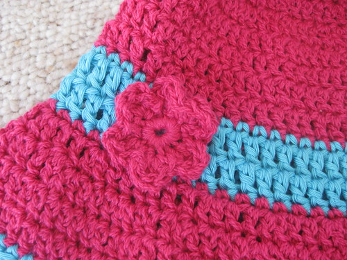 crochet sun hat close up
