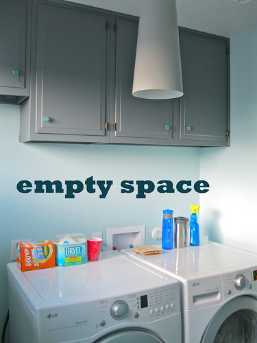 empty space in laundry room