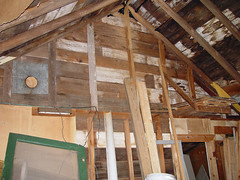 attic, wood, roof, room, ceiling, beam, lumber, shed,
