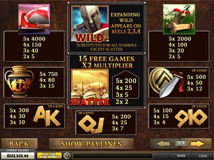 Sparta Slots Payout