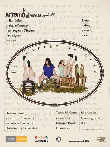 """Arte Móvil-Danza Clan presnta """"Las Cartas de Nora"""""""