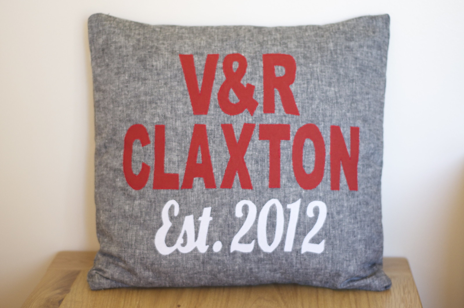 Another wedding cushion...