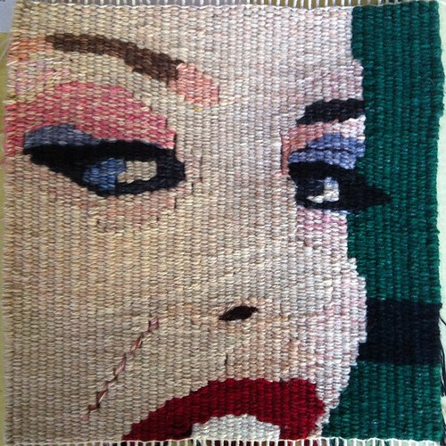 We All Get Hurt By Love, tapestry by Mardi Nowak