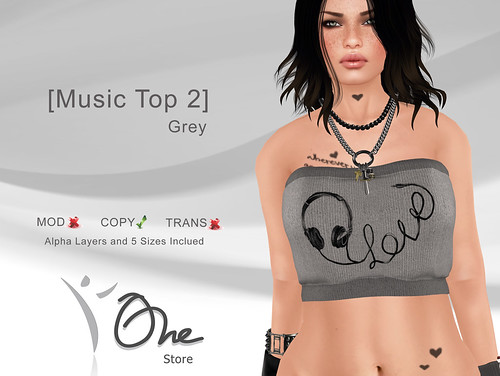 Music Top 2 Grey