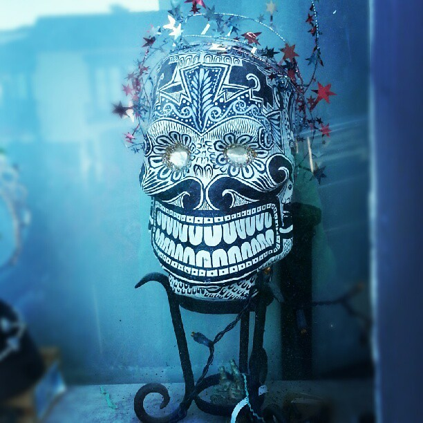 Day of the dead skull on my walk earlier today