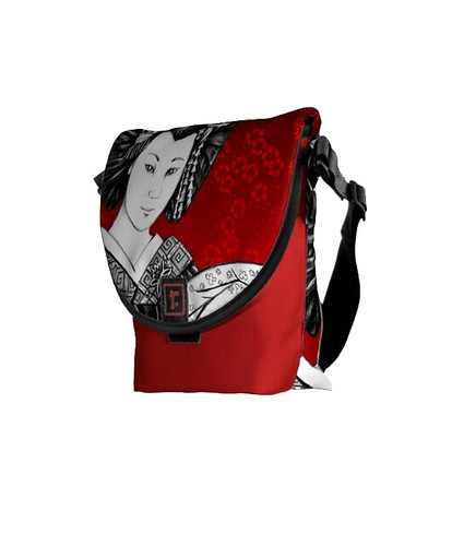 Messenger Bag Geisha Abanico