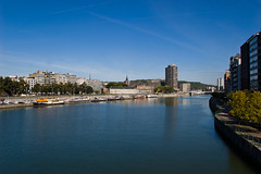 Vue sur la Meuse depuis le Pont Albert 1er