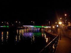 Illumination du Pont Kennedy sur la Meuse