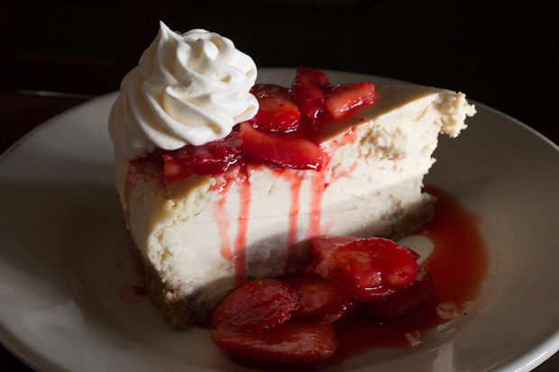 Strawberry Cheesecake, Sharky's on the Pier, Venice, FL, Restaurant Review