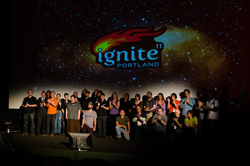 All of the Ignite Portland speakers and volunteers