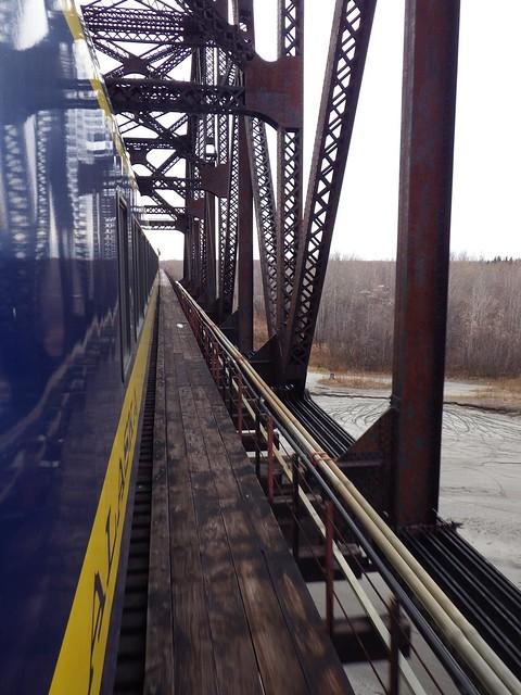 Crossing Bridge - Alaska Railroad Aurora Winter Train