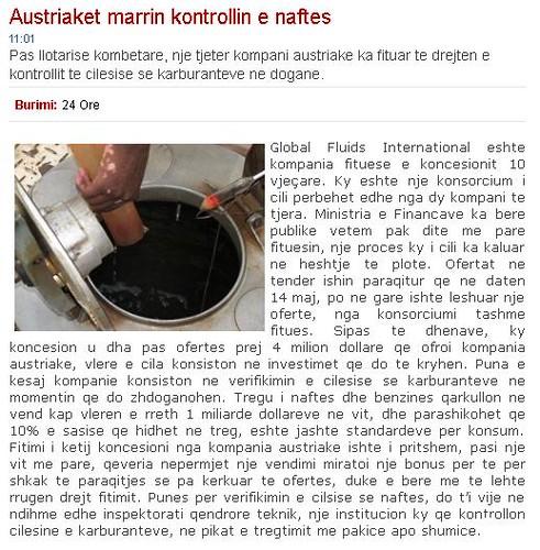 Austriaket marrin kontrollin e naftes