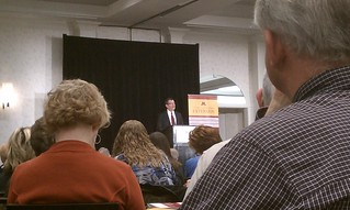 .@PrezKaler addresses Extension staff at the 2012 #UMNExtPC