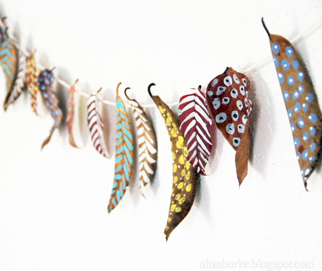 fall garland by Alisa Burke