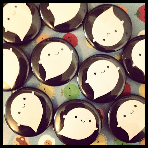 Boo! Little ghost badges
