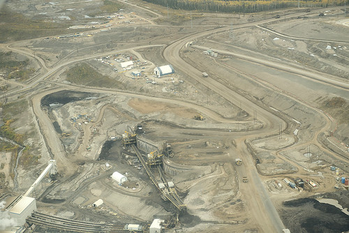 Aerial view of tar sands credit: Nobel Women's Initiative