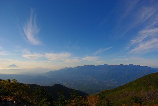 南アルプスと富士